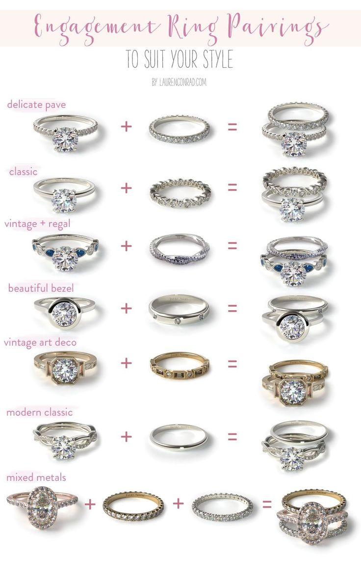 wedding ring pictures of wedding rings Wedding Bells Our Favorite Engagement Ring Wedding Band Pairings