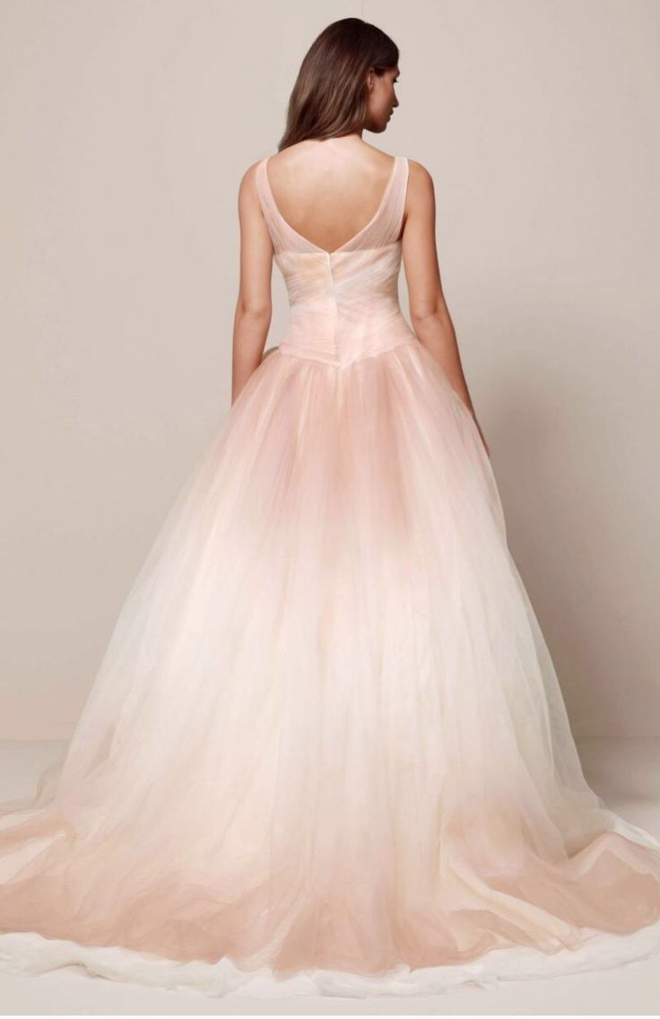 wedding dress blush tulle wedding dress Brand New Vera Wang Ombre Tulle Wedding Blush Wedding DressesVera