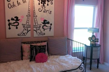 girls paris decorations room | home and decoration