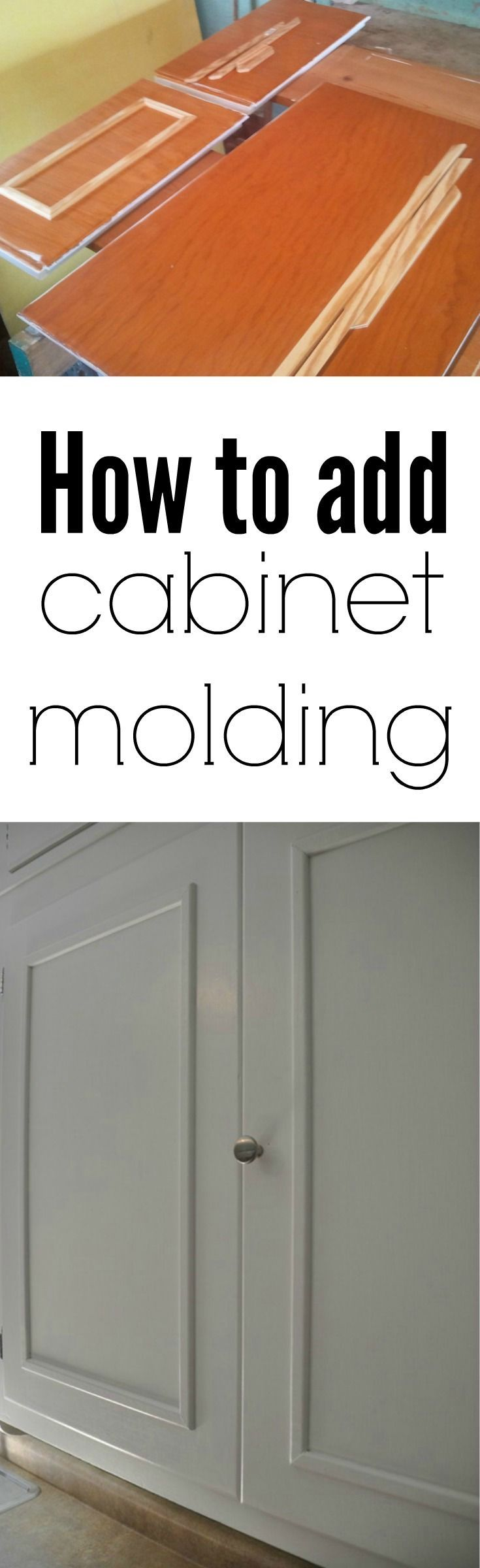 old cabinets old kitchen cabinets How to Add Cabinet Molding