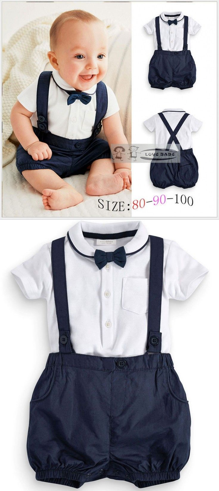 wedding dress for boys baby wedding dresses Summer Baby Clothing Cotton 2pcs Suit Short Infant Boy Gentleman Suspender Gift Sets For Newborns Christening