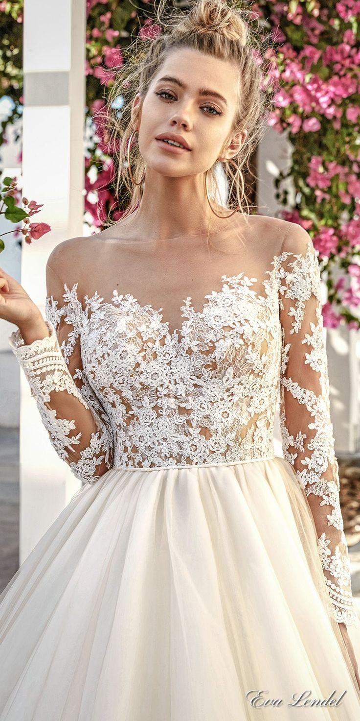 wedding dress E3 82 AC E3 83 BC E3 83 87 E3 83 B3 sheer top wedding dress Eva Lendel Wedding Dresses Santorini Bridal Campaign