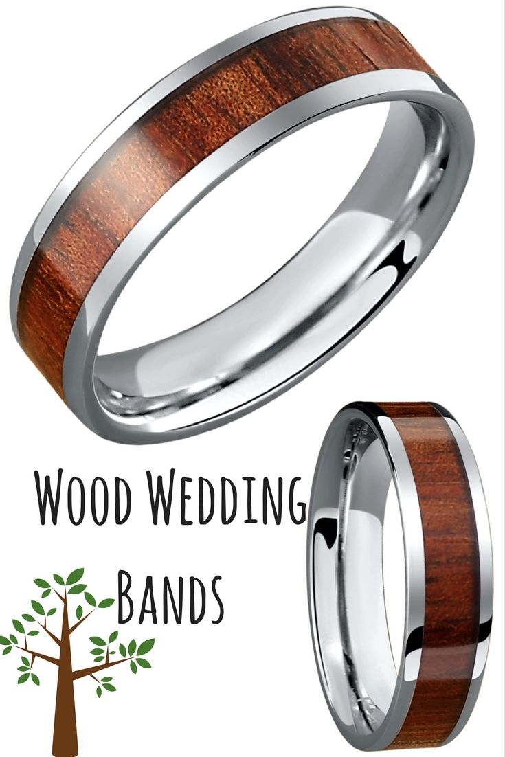 mens wood wedding bands outdoorsman wedding band Mens flat profile wood tungsten wedding band These rings make the perfect wedding bands for