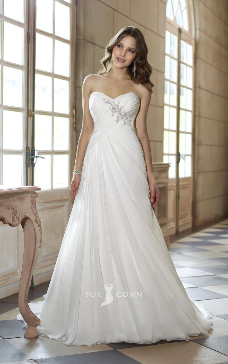 asymmetrical wedding dresses empire wedding dresses Strapless sweetheart a line empire asymmetrical pleated wedding dress