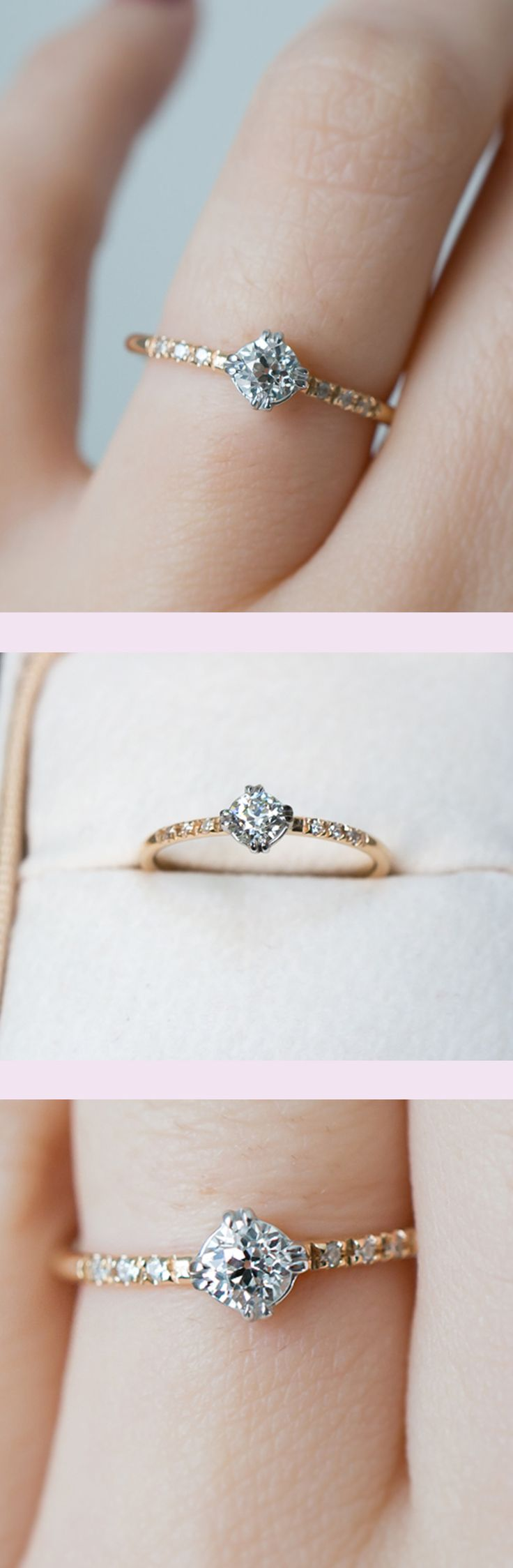 small engagement rings wedding rings under The sweetest vintage diamond engagement ring by S Kind