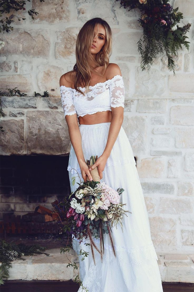 grace loves lace wedding dress 2 piece Find this Pin and more on WEDDING DETAILS The two piece wedding dress