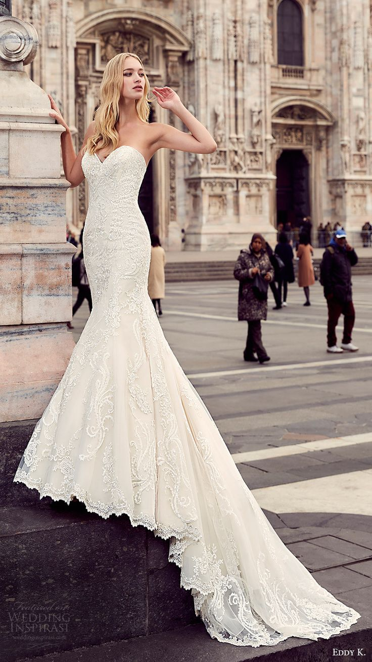 bridal dressing wedding dress mermaid Eddy K Wedding Dresses Milano Bridal Collection