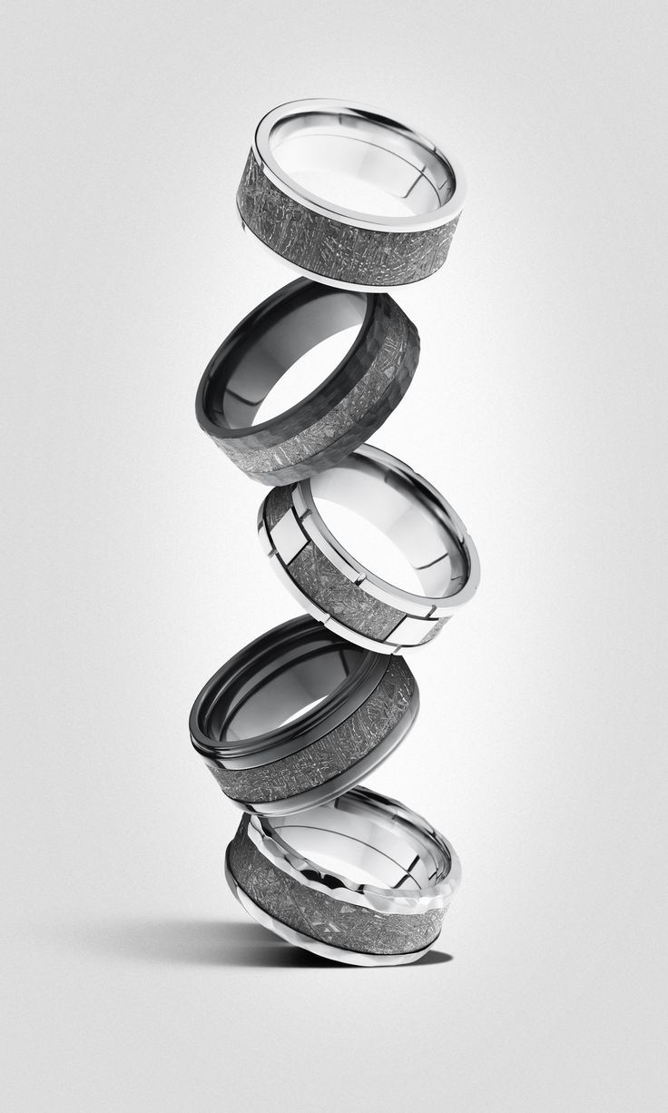 mens wedding bands wedding ring Meteorite wedding rings Made with real meteorites A ring out of this world