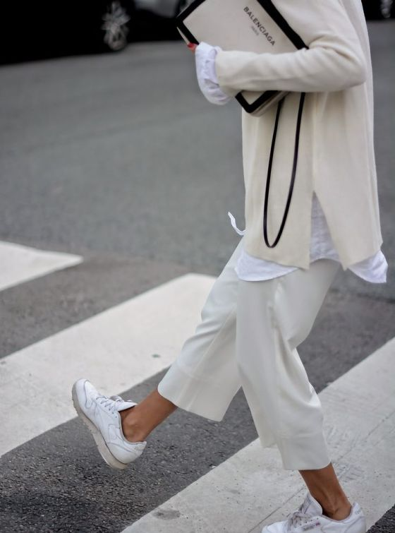 all white everything | white | trainers | layers | shirt | knits | oversized | style | trend