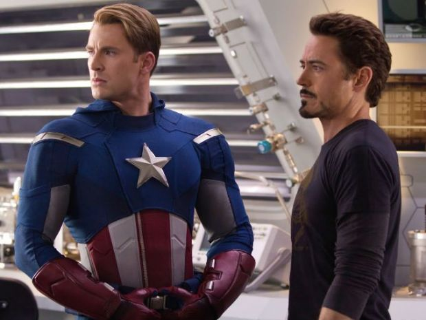 Image result for iron man and captain america