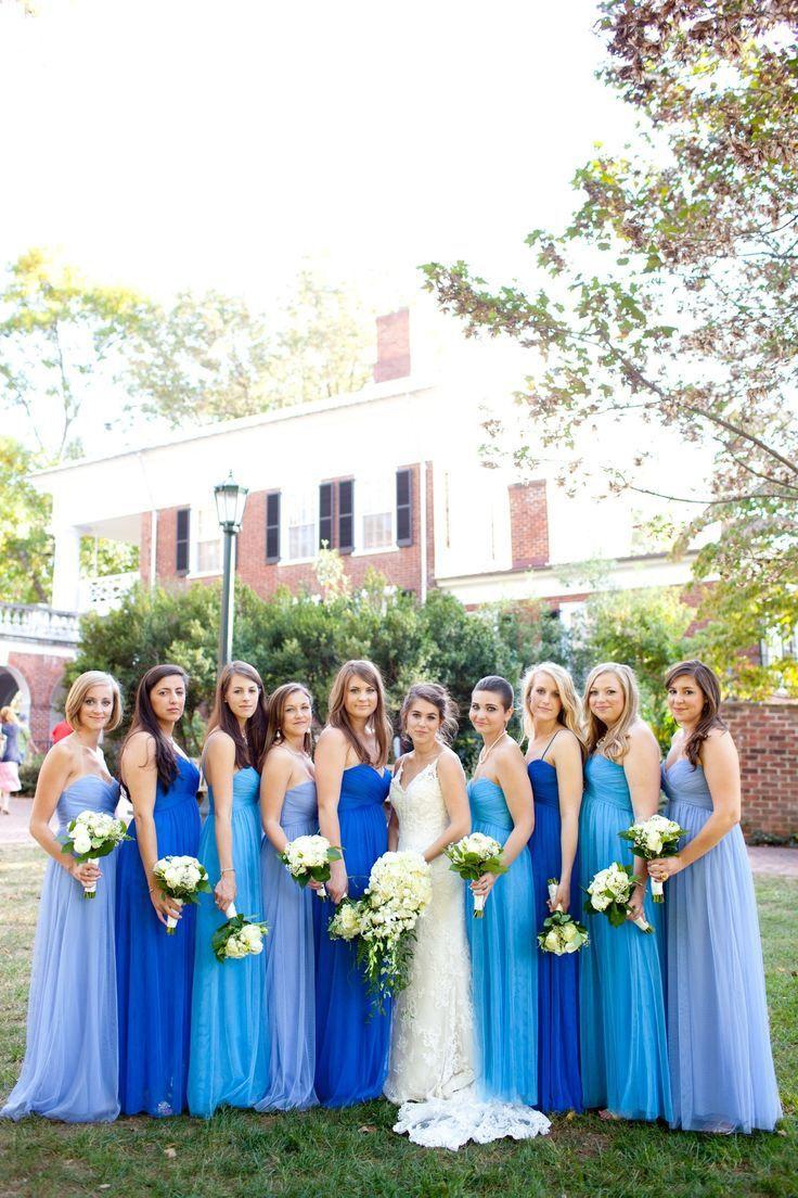 ombre bridesmaid dresses blue wedding dresses 25 Best Ideas about Ombre Bridesmaid Dresses on Pinterest Purple wedding dress colors Multi coloured occasion dresses and Bridesmaid dress shades