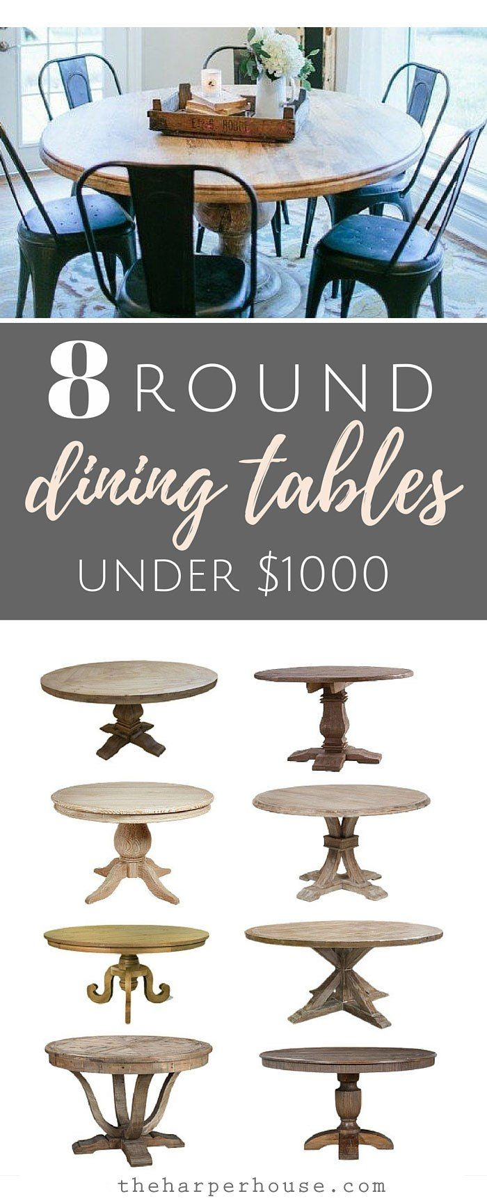 round dining tables kitchen table round Fixer Upper round dining tables and where to find affordable options for under theharperhouse