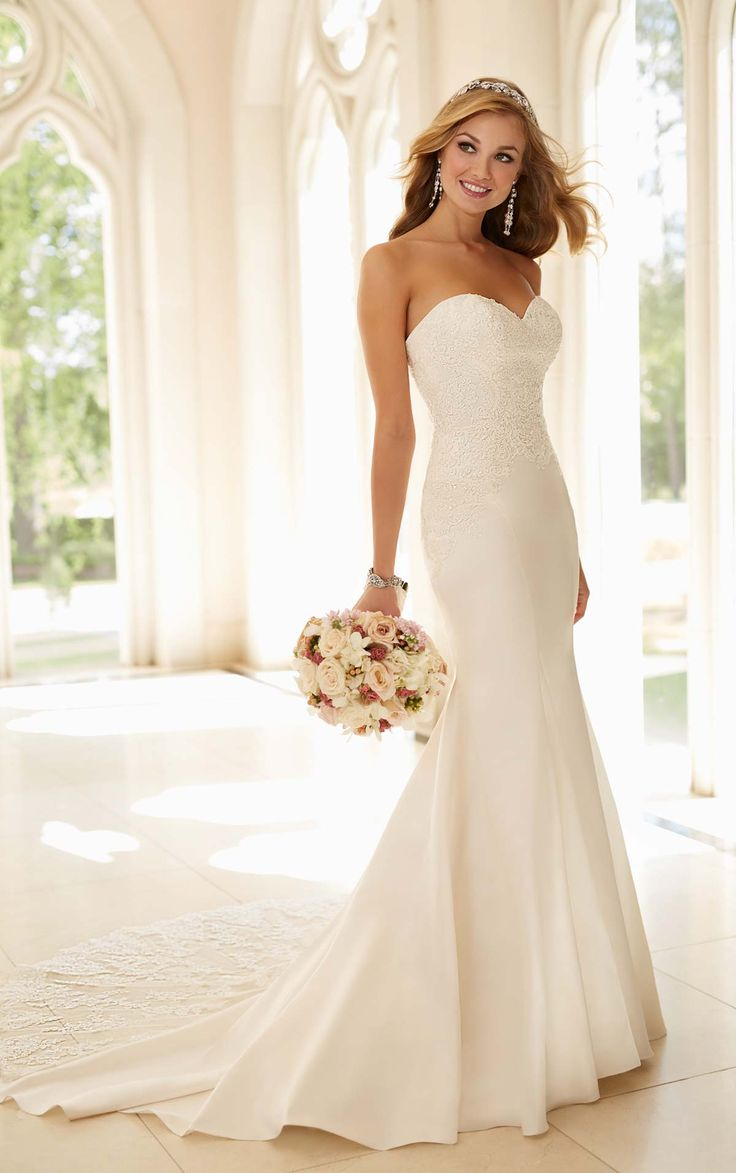 sophisticated wedding dresses fancy wedding dresses Dolce Fit and Flare Dress Satin Wedding GownsElegant