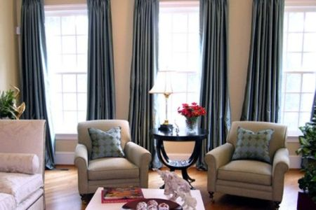 three window curtains and chairs | for the casa