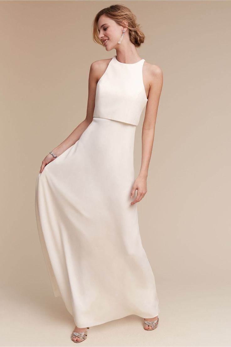 minimal wedding dress party wedding dresses Find this Pin and more on The Modern Bride minimal crepe bridesmaid dress