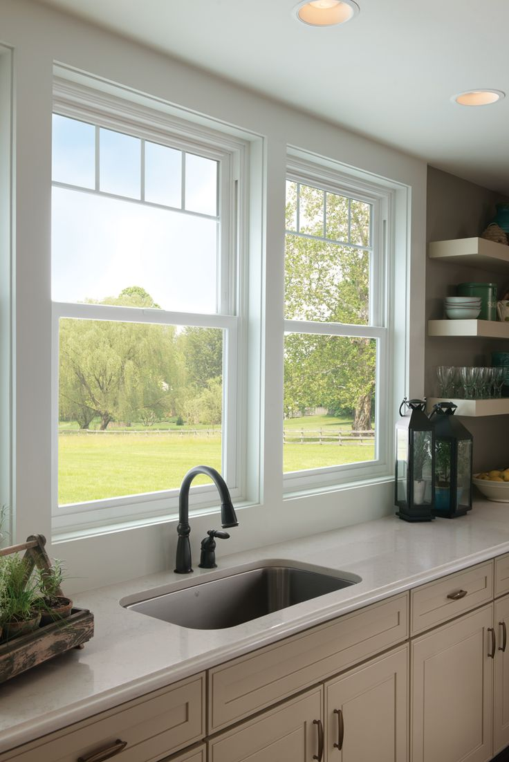 milgard top selection kitchen sink styles Valence grids give these kitchen sink windows a new sophistication Featured Tuscany Series
