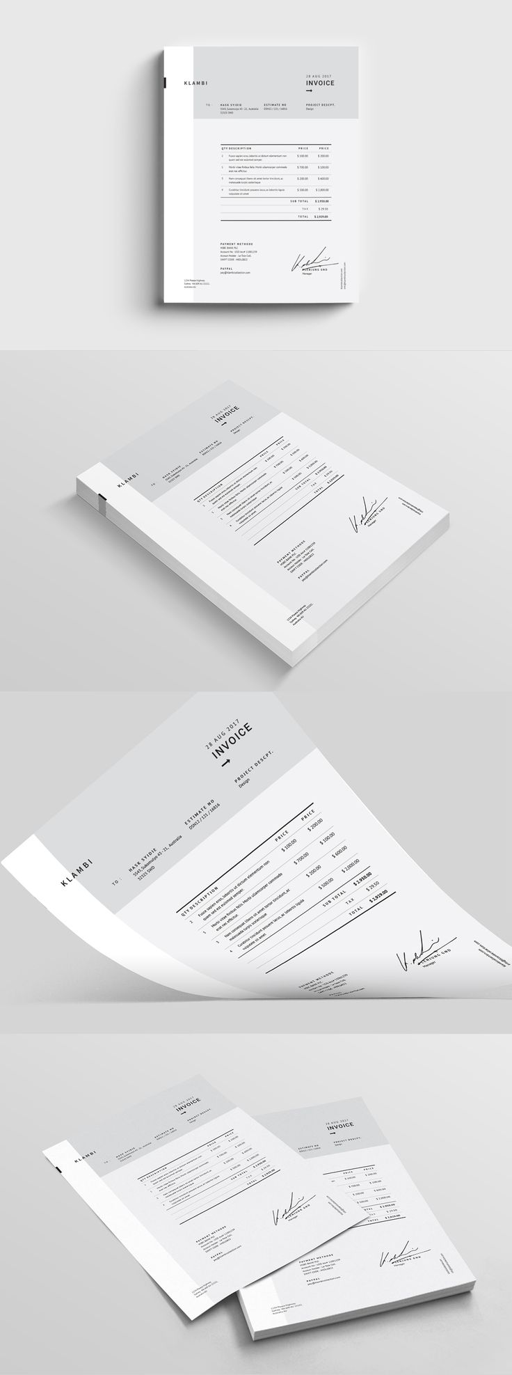 Invoice Template Indesign     hardhost info 17 best ideas about invoice template on pinterest   invoice design  Invoice  templates