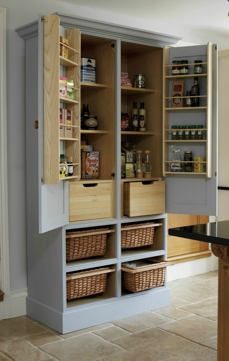 free standing kitchen cabinets free standing kitchen cabinets 20 Amazing Kitchen Pantry Ideas