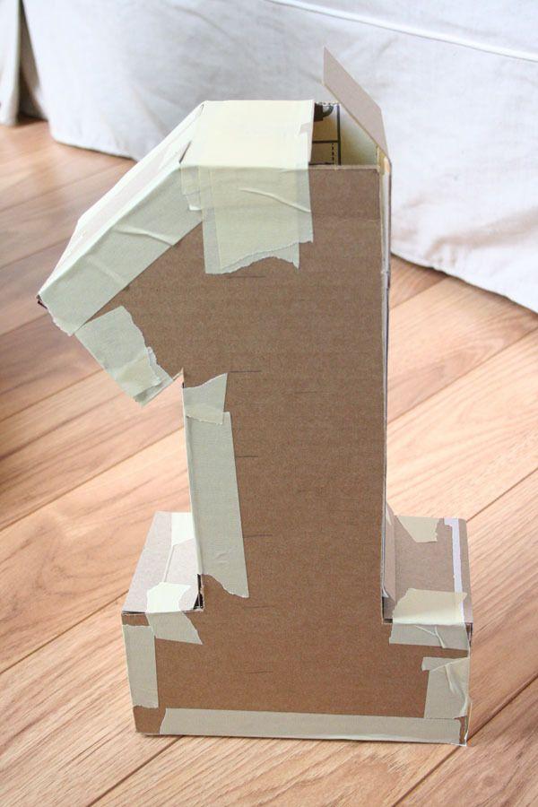 Как сделать объемную цифру 1 из картона
