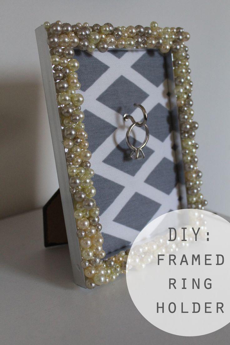 ring holder frame wedding ring holder DIY Engagement Ring Frame Holder Got the frame now I just need to get