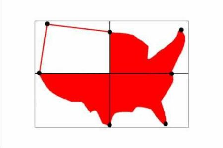 how to draw a map of the united states of america