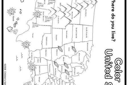 print and color us map coloring page | social studies