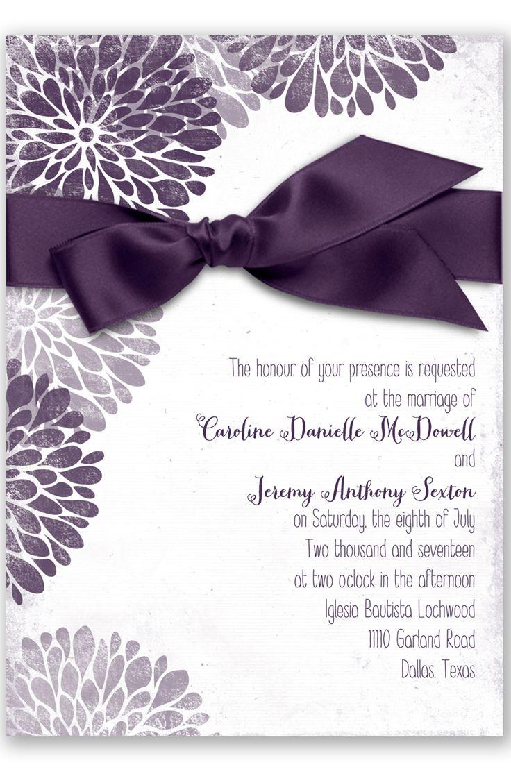 plum wedding invitations photo wedding invitations Burst of Colorful Love Wedding Invitation in Plum by David s Bridal
