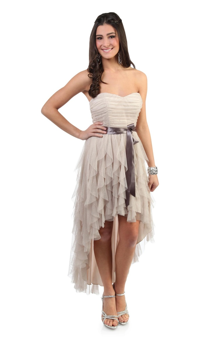 prom dress ideas country girl wedding dresses glitter ruffle high low prom dress with side waist tie would look cute with cowboy boots