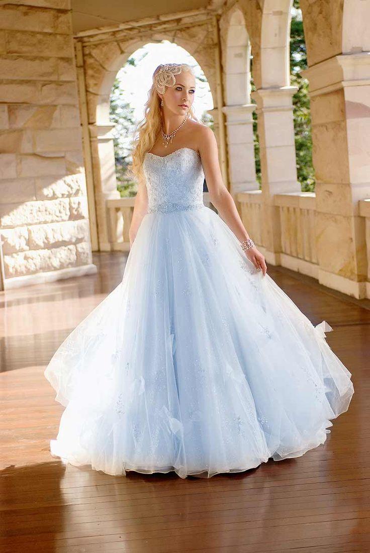 wedding dress 2 blue wedding dresses A Modern Wedding Fairytale Light Blue Wedding DressLight