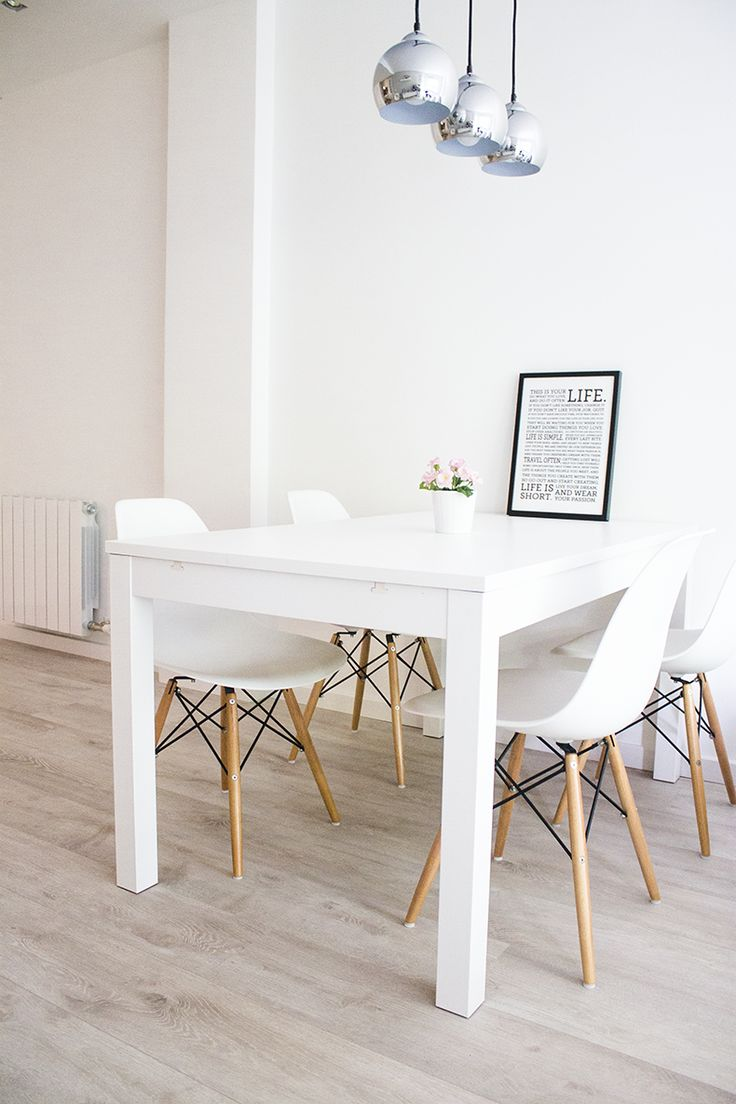 white dining rooms white kitchen table 25 best ideas about White Dining Rooms on Pinterest Square dinning room table Colorful kitchen tables and Condo decorating