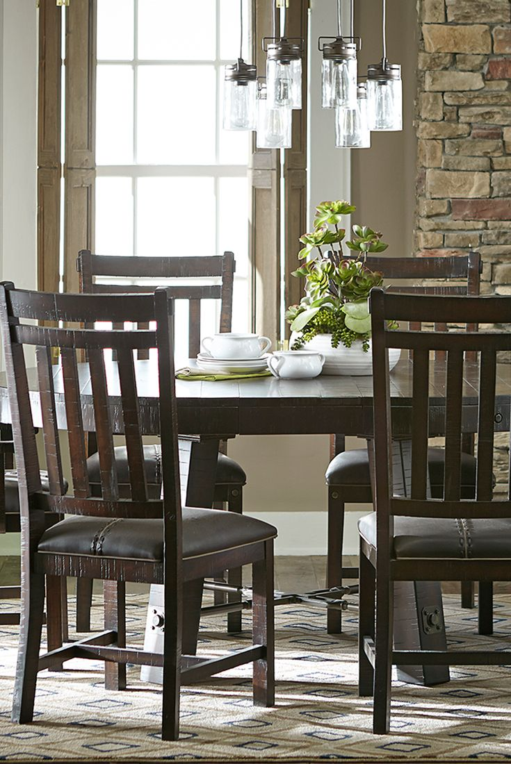 rustic gets refined by havertys furniture havertys kitchen tables Our Arden Ridge dining table boasts an industrial yet chic style Its distressed mahogany
