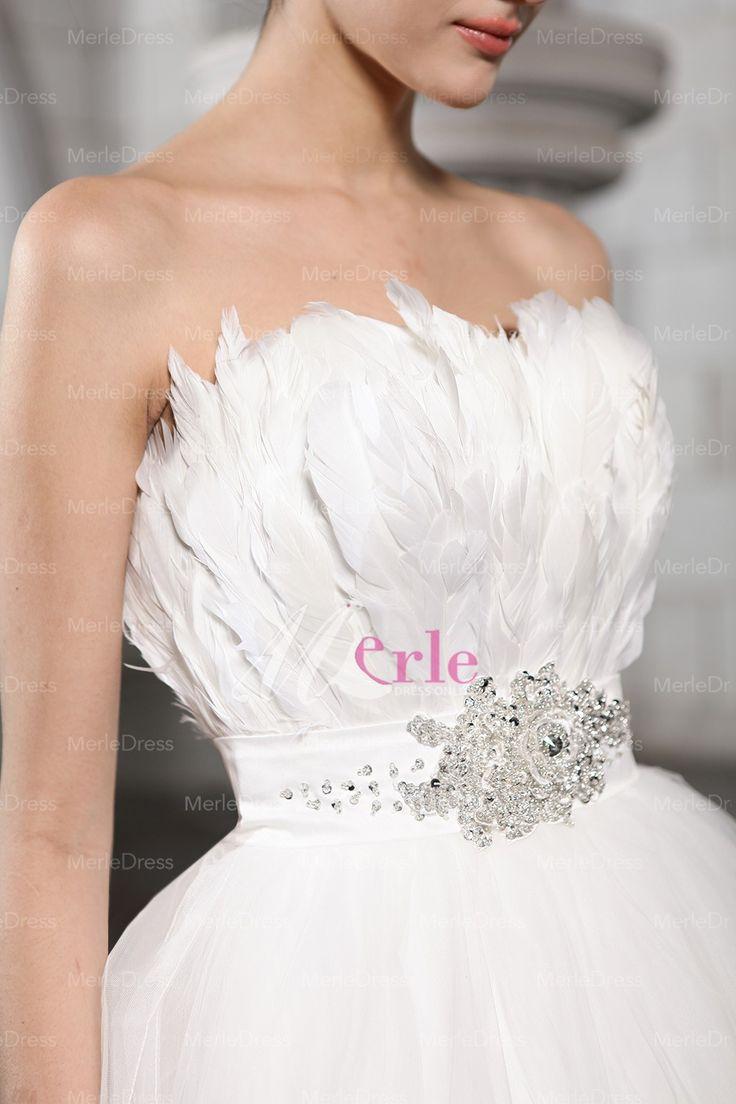 feather wedding dresses feathered wedding dress Amazing Black and White Feather Wedding Dresses White Feather Wedding Dresses