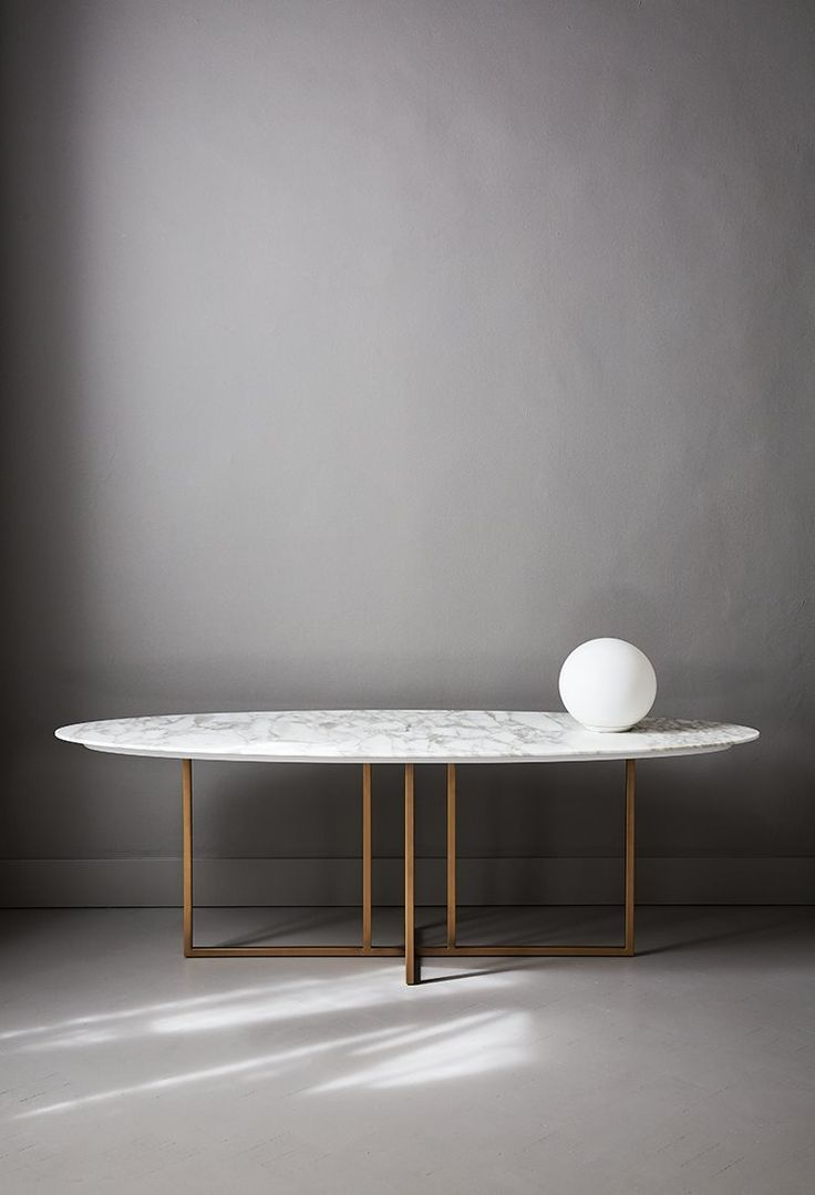oval dining tables oval kitchen table Amazing marbel table for modern houses Discover more modernconsoletables net consoletables Marble Dining TablesModern Oval