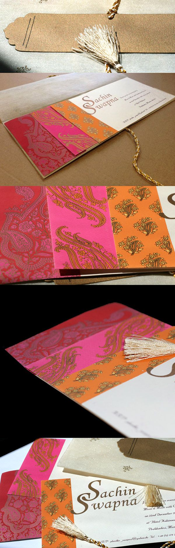 indian wedding cards indian wedding invitations An Indian invite inspired from the beautiful indian sarees Intricate screen printing on textured