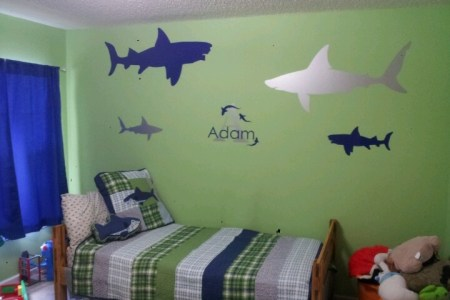 kids shark bedroom | nesting big boy room ideas | pinterest