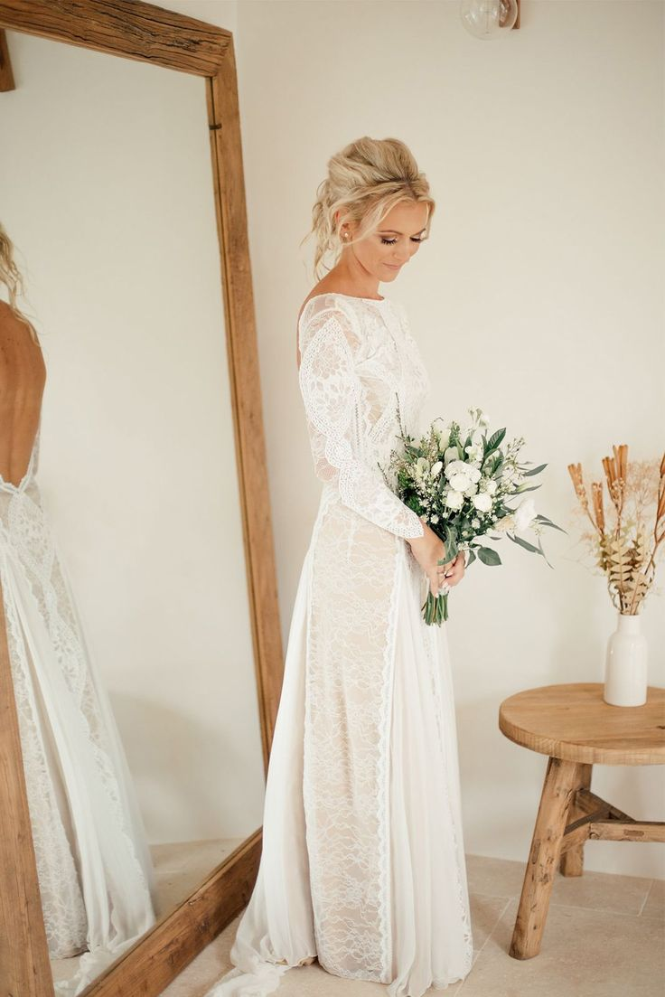long sleeve wedding sleeved wedding dress 32 Winter Wedding Dresses Perfect For A Cold Day