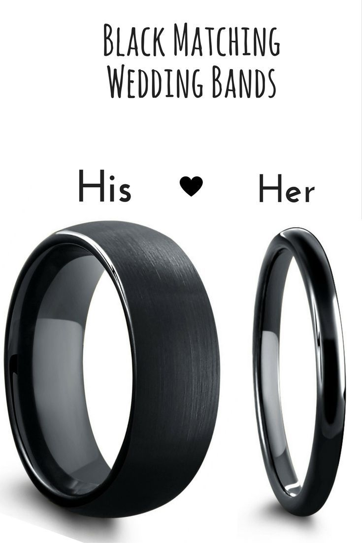wedding band sets matching wedding band sets Black matching wedding band set These black ring are crafted out of tungsten carbide
