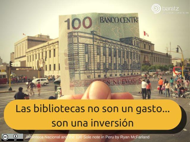 Las bibliotecas no son un gasto... son una inversión