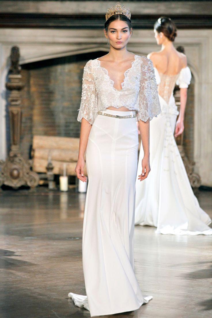 wedding trends trending wedding dresses Two Piece Wedding Dresses Make Their Statement