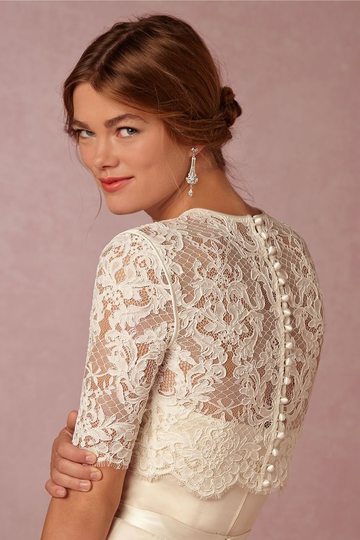 bridal cover ups wedding dress cover Dasha Topper in Shoes Accessories Cover Ups at BHLDN