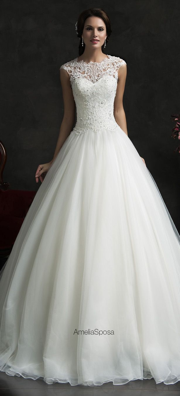 pretty wedding dresses cute wedding dresses Amelia Sposa Wedding Dresses
