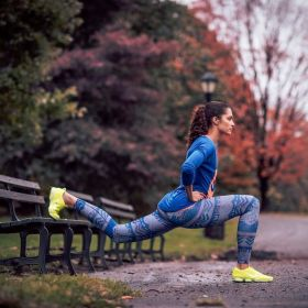 Nike Women's G87 Tank Top, Nike Women's Long Sleeve Signal T-Shirt, Nike Women's Pro Hyperwarm Nordic Compression Tights and Nike Women's Zoom Fit Agility Training Shoe. Available at DICK'S Sporting Goods. #DSGWomens