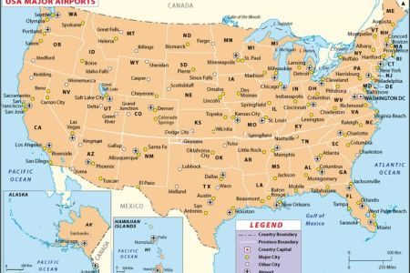 usa airport map ideas for the next trip! | trips