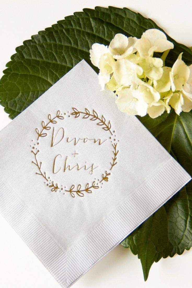 wedding cocktail napkins napkins for wedding Find this Pin and more on Wedding Napkins