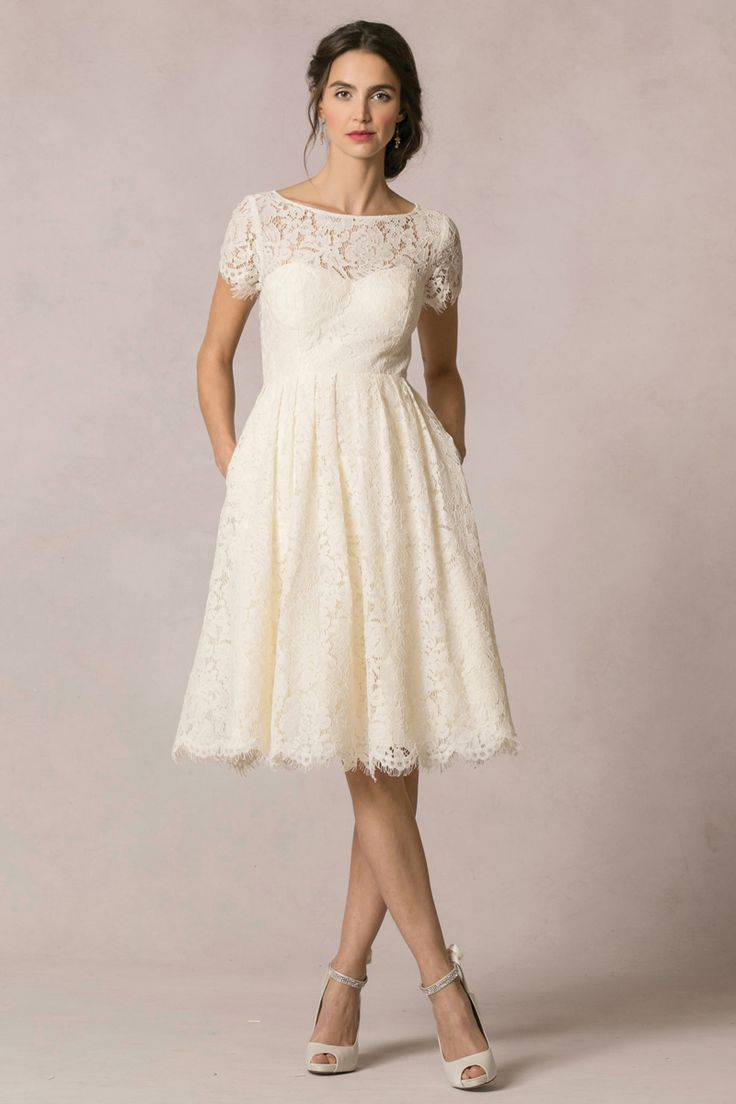 casual wedding dresses casual white wedding dress 12 Short Wedding Dresses for a Fun Casual Celebration