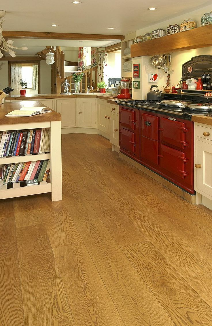 kitchen living floorimg kitchen flooring types Cognac Pre oiled Engineered Oak in the kitchen Suitable for most types of fitting