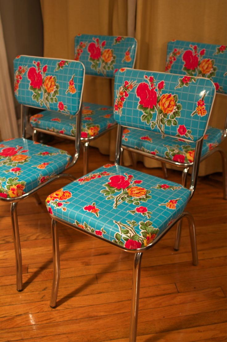 kitchen chairs turquoise kitchen chairs oilcloth covered kitchen chairs may have to redo my set again
