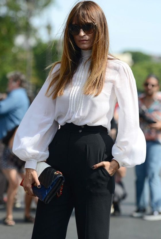 Caroline de Maigret outside the Chanel Haute Couture in Paris.: