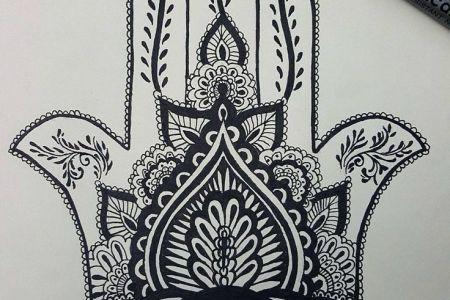 c382fc52a15d14f7f7630fdb78500f19 hand of ima tattoo pattern tattoo
