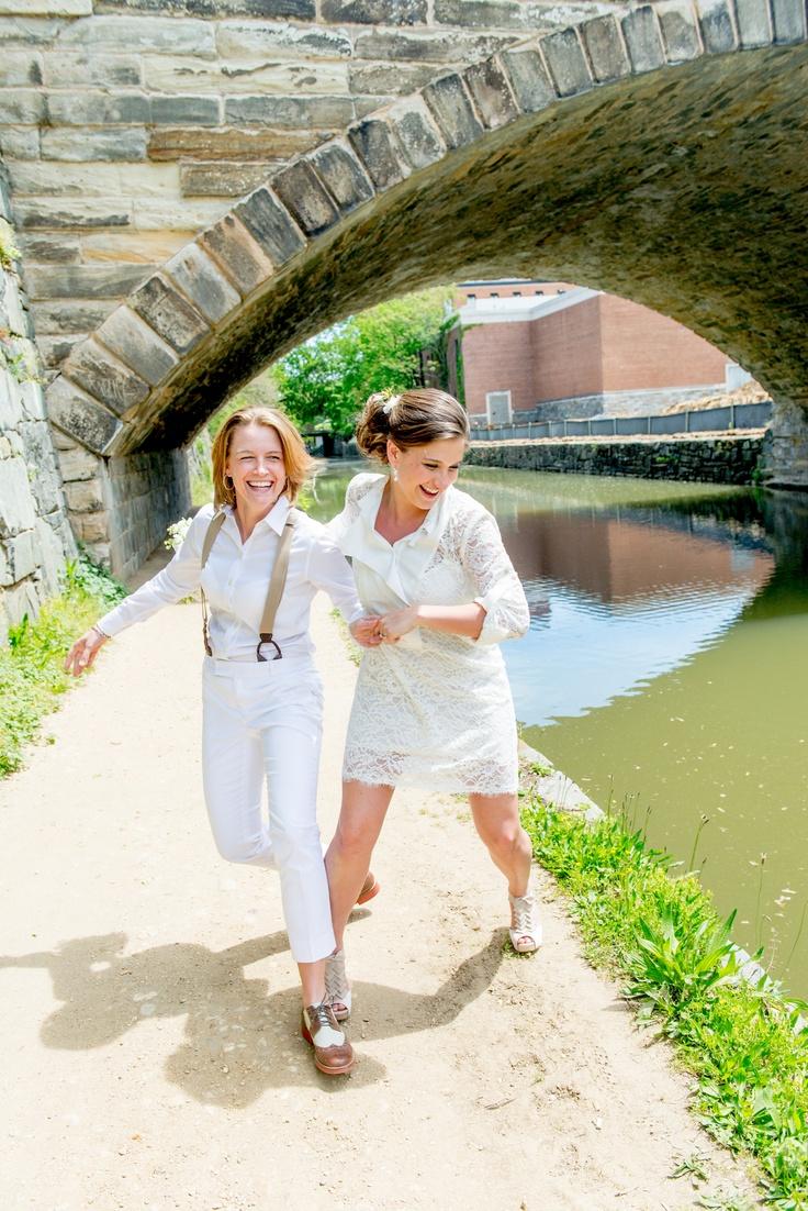 lesbian wedding photos lesbian wedding ideas A lovely and bright lesbian wedding in DC